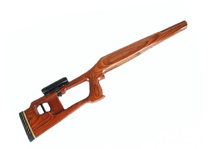 [1387] ЛОСЬ КО-7 сб.4 Ложа Шпон по типу СВД с подушкой (Ручная работа)